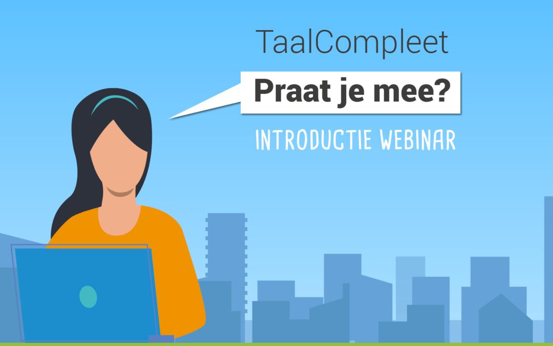 Introductie Webinar – Praat je mee?